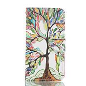 Para Funda Samsung Galaxy Cartera / Soporte de Coche / con Soporte / Flip Funda Cuerpo Entero Funda Árbol Cuero Sintético SamsungS6 edge