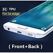 Cobertura completa en 3D de alta definición del tpu prevenir protector de pantalla de cero para el borde samsung galaxy s6 (delantero y