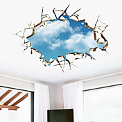 Formas 3D Pegatinas de pared Calcomanías 3D para Pared Calcomanías Decorativas de Pared,Vinilo Material Removible Decoración hogareña