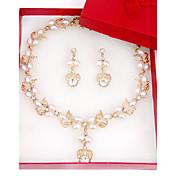 Conjunto de joyas De mujeres Aniversario / Boda / Pedida / Cumpleaños / Regalo / Fiesta / Cotidiano / Ocasión especial Sets de Joya