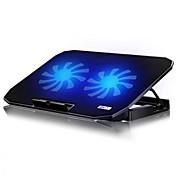 2usb portátil Notebook Cooler ordenador rejilla para enfriar la placa base de fans para 14,15.6, 17 pulgadas