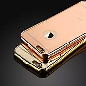 Para Funda iPhone 5 Cromado / Espejo Funda Cubierta Trasera Funda Un Color Dura Acrílico iPhone SE/5s/5