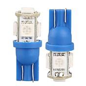 10 * T10의 W5W 168 194 차 측 쐐기 번호판 전구 램프 5050SMD 5 LED 조명의 12V (빨강 / 노랑 / 블루 / 화이트 / 그린 / 핑크)