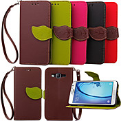 Wallet Card Slot Bracket Maple Leaves Hang Rope Phone Case For Galaxy On5/On7/Grand Prime/Core Prime/Young 2/J1/J5/J7
