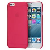 Para Funda iPhone 6 / Funda iPhone 6 Plus Ultrafina / Traslúcido Funda Cubierta Trasera Funda Un Color Dura PolicarbonatoiPhone 6s Plus/6