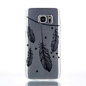 용 Samsung Galaxy S7 Edge 투명 / 패턴 케이스 뒷면 커버 케이스 깃털 TPU Samsung S7 edge / S7 / S6 edge plus / S6 edge / S6 / S4 Mini / S4