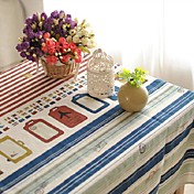 플래그 패턴 테이블 천으로 패션 hotsale 고급 코튼 린넨 광장 커피 테이블 천으로 커버 타올