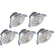 ywxlight® 5pcs 3w 300-350lm 지원 dimmable led 패널 조명 led 천장 조명