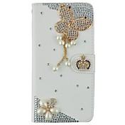 용 아이폰6케이스 / 아이폰6플러스 케이스 지갑 / 카드 홀더 / 크리스탈 / 스탠드 / 플립 / 패턴 케이스 풀 바디 케이스 3D카툰 캐릭터 하드 인조 가죽 iPhone 6s Plus/6 Plus / iPhone 6s/6