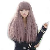 Mujer Pelucas sintéticas Sin Tapa Rizado Morado peluca de vestuario Las pelucas del traje