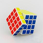 Yongjun® 부드러운 속도 큐브 4*4*4 속도 매직 큐브 블랙 페이드 / 아이보리 ABS
