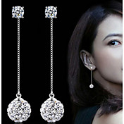 Drop Earrings Imitation Pearl Elegant Bridal Pearl Imitation Diamond Alloy Circle Silver Jewelry For Wedding Party Daily 1 Pair