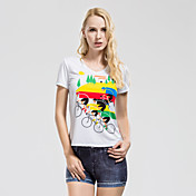 TASDAN 여성용 러닝 티셔츠 짧은 소매 빠른 드라이 통기성 소프트 땀 흡수 기능성 소재 티셔츠 츄리닝 상의 져지 탑스 용 운동&피트니스 사이클링/자전거 달리기 100% 폴리에스터 엘라스틴 슬림 M L XL XXL XXXL