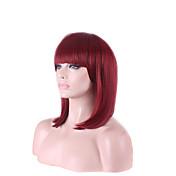 아프리카 싼 와인 레드 FUXIA 색 짧은 아름다운 여성의 밥 가발 코스프레 가발 고온 섬유 의상 머리
