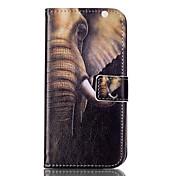 Para Samsung Galaxy S7 Edge Soporte de Coche / Cartera / con Soporte / Flip / Diseños Funda Cuerpo Entero Funda Elefante SuaveCuero