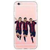 Für iPhone 6 Hülle / iPhone 6 Plus Hülle Ultra dünn / Durchscheinend Hülle Rückseitenabdeckung Hülle Zeichentrick Weich TPU AppleiPhone 7
