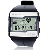 Hombre Reloj Deportivo Reloj de Moda Reloj de Pulsera Reloj digital Digital LCD alarma Monitor de Pulso Cardiaco Luminoso Cronómetro