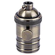 스위치 블랙 / 브론즈 / 실버 / 황금 색상 구리 E27 droplight 램프 홀더
