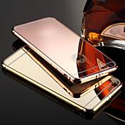 Para iPhone X iPhone 8 iPhone 8 Plus iPhone 6 iPhone 6 Plus Carcasa Funda Cromado Espejo Cubierta Trasera Funda Color sólido Dura Metal
