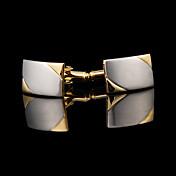 커프링크스 1 쌍,솔리드 골든 패션 / 선물 상자 및 가방 커프스 남성의 보석류