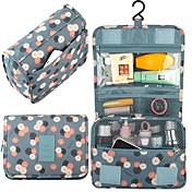 1개 여행 가방 정리함 여행용 세면도구 가방 화장품 백 방수 먼지 방지 견고함 멀티기능 손잡이가 있는 여행가방 용 남여 공용 여행용 보관함 패브릭 다크론-퍼플 옐로우 레드 블루 핑크
