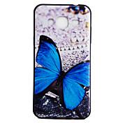 Para la galaxia j3 j3 de Samsung (2016) caso de la contraportada caso suave del modelo del tpu de la mariposa azul