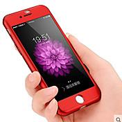 Para iPhone 8 iPhone 8 Plus iPhone 7 iPhone 7 Plus Carcasa Funda Antipolvo Antigolpes Cuerpo Entero Funda Color sólido Dura Policarbonato