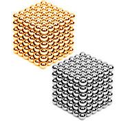 자석 장난감 432 조각 3MM Magnetic Balls 216PCS *2,Golden&Silver 2 Color Mixed in 1 Box,Diameter 3 MM스트레스 완화 DIY 키트 자석 장난감 조립식 블럭 3D퍼즐 마술 소품 교육용