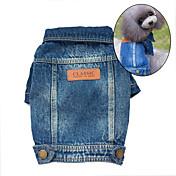 Dog Denim Jacket/Jeans Jacket Blue Dog Clothes Winter / Spring/Fall Jeans Cute / Cowboy / Fashion