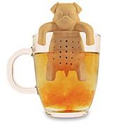 실리콘 커피 차 주입기 개 퍼그 주전자 허브 향신료 여과기 필터 선물 (랜덤 색상)