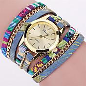 Mujer Reloj de Moda Reloj de Pulsera Reloj Pulsera Cuarzo Punk Colorido Tejido Banda Cosecha Bohemio Encanto Brazalete Cool Casual