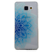 For Samsung Galaxy A5 A3 (2016) Case Cover Blue Half Flowers Pattern Painted TPU Material Phone Case
