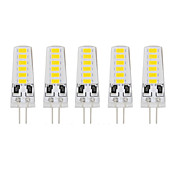 5 Pcs 유선 Others G4 12 led Smd5733 DC12 v 400 lm Warm White Cold White Double Pin Waterproof Lamp 아이보리
