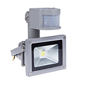 10w 모션 센서 PIR의 800lm 슈퍼 밝은 야외 보안 빛 85V-265V 방수 홍수기구 3200K 따뜻한 화이트 투광 조명과 홍수 빛을 주도