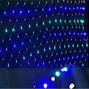 주도 그물 크리스마스 방수의 색깔을 입히고 1.5 * 1.5 M96 램프 소켓 조명 점등
