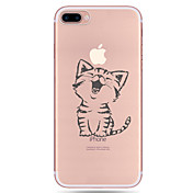 Para iPhone X iPhone 8 iPhone 7 iPhone 7 Plus iPhone 6 Carcasa Funda Diseños Cubierta Trasera Funda Gato Suave TPU para Apple iPhone X