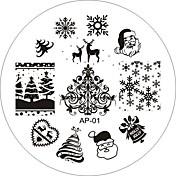 el arte del clavo sello de imagen de estampado serie ap 25 estilo de la placa de plantilla