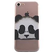 Para iPhone X iPhone 8 iPhone 7 iPhone 6 Funda iPhone 5 Carcasa Funda Transparente Diseños Cubierta Trasera Funda Animal Oso Panda Suave