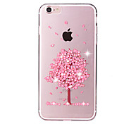 Flower Tree Pattern Crystal Glitter Diamond Soft TPU Back Cover Cases for iPhone 7 7 Plus
