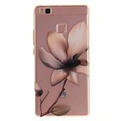 For Huawei P9 Lite P8 Lite Y6 II Enjoy 5 Honor 8 TPU Material IMD Process Magnolia Pattern Phone Case