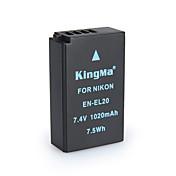 kingma en-EL20 bmpcc batería de la cámara digital para Nikon Coolpix un j1 j2 j3 s1 AW1 mh-27