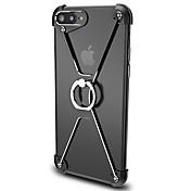 용 링 홀더 케이스 범퍼 케이스 단색 하드 알루미늄 용 Apple 아이폰 7 플러스 / 아이폰 (7)