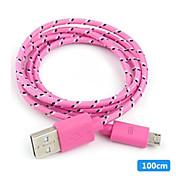 마이크로 USB 2.0 짜임 PVC 케이블 100cm