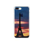 용 패턴 케이스 뒷면 커버 케이스 에펠탑 소프트 TPU 용 Apple 아이폰 7 플러스 아이폰 (7) iPhone 6s Plus/6 Plus iPhone 6s/6