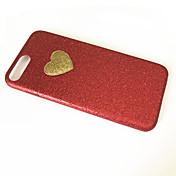 Para Antipolvo Funda Cubierta Trasera Funda Corazón Suave TPU para Apple iPhone 7 Plus iPhone 7 iPhone 6s Plus/6 Plus iPhone 6s/6