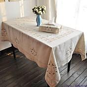 Rectangular Bordado Forros de Mesa , Lino MaterialHotel Dining Tabla Decoración del banquete de boda Cena banquete de la boda Decoración
