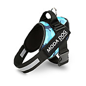 MODA DOG No Pull Printed Fashion Reflective Adjustable Safety Harness for Samll and Large Dogs   (Assorted Colors Assorted Sizes)