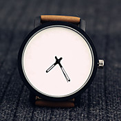Men's Unisex Fashion Watch Wrist watch Casual Watch Quartz Leather Band Unique Creative Cool Black Brown
