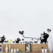애니멀 벽 스티커 플레인 월스티커 거울 벽스티커 데코레이티브 월 스티커,종이 자료 재부착가능 홈 장식 벽 데칼