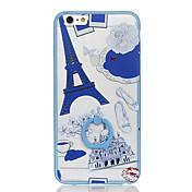 용 링 홀더 패턴 케이스 뒷면 커버 케이스 에펠탑 하드 PC 용 Apple iPhone 6s Plus iPhone 6 Plus iPhone 6s 아이폰 6